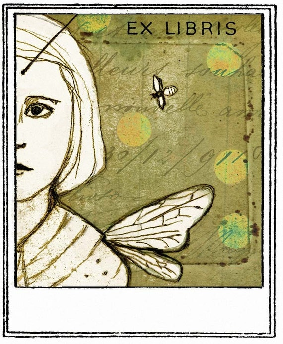 They Called Her Honey Bee Bookplates (Personalized or Blank)