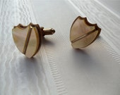 Mother of Pearl Shield Vintage Cufflinks