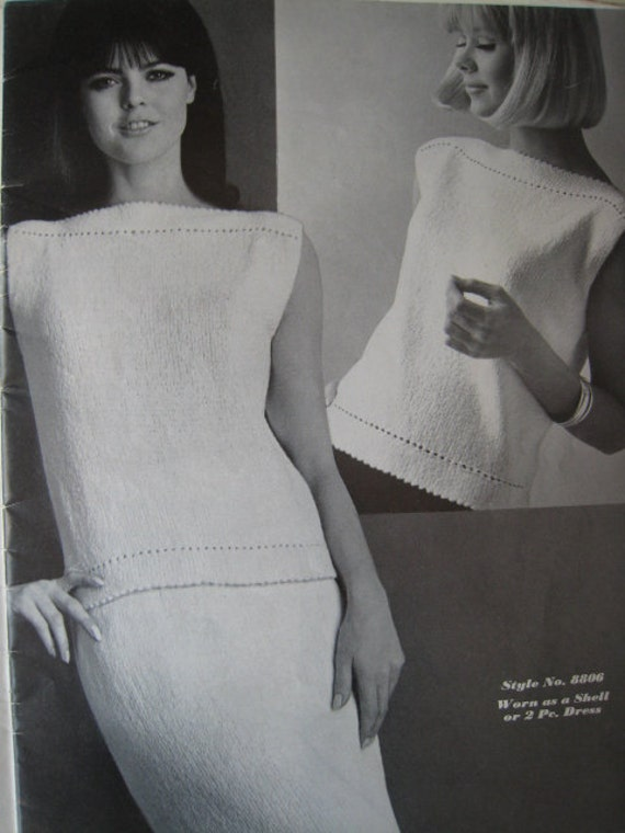 Knitting Pattern Book Vintage Shells