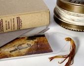 Bookmark Collage Art Original w/ Bird from Vintage 1936 Biology TextBook OOAK - Nature Survives No. 1
