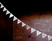 Extra-Long Personalized Mini Pennant Banner From Vintage Maps