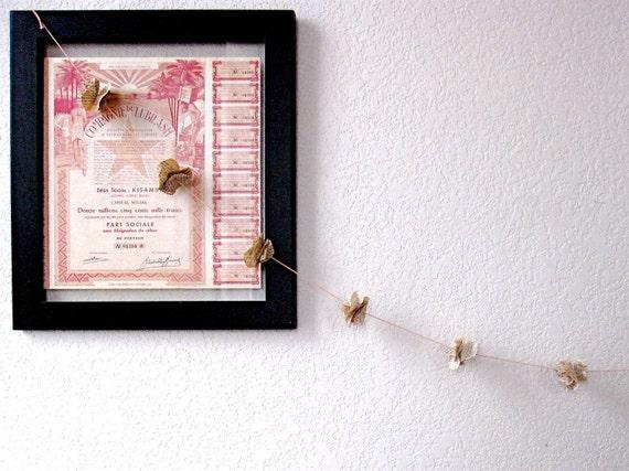 Pride and Prejudice Vintage Book Flower Garland - Literary Decor on Peach Cotton Twine