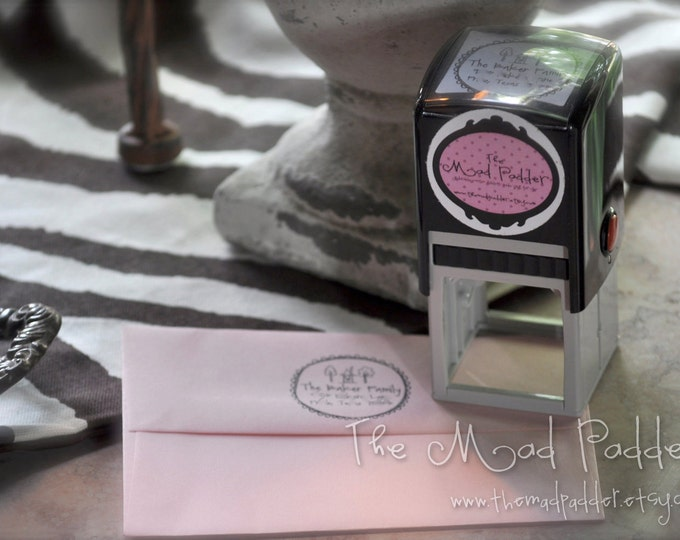 Custom Self-Inking Square Address Stamp