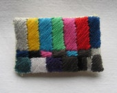 Tiny ColorBars Hand Embroidered Brooch