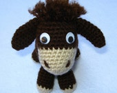 Amigurumi brown donkey