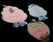 Birthday Invitations / Special Occasion Cards custom cut in a variety of shapes