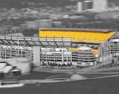 Pittsburgh heinz field art photo selective color - Heinz Field football stadium - Home of the Steelers - 8x10