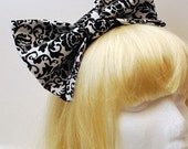Damask Nonsense Big Hair Bow