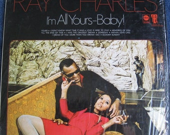 Original RAY CHARLES Im All Yours Baby 1969 lp RARE Vinyl Record Album