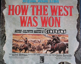 ORIGINAL How The West Was Won 1962 Soundtrack lp Rare Vinyl Record Album