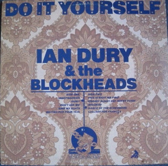 IAN DURY And The BLOCKHEADS Do It Yourself lp 1979 Stiff Epic Pressing Vinyl Record Album