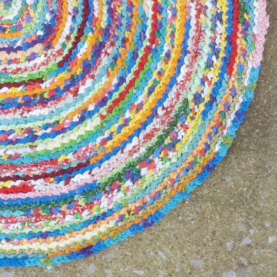 CUSTOM Round Rug - you pick the size & color