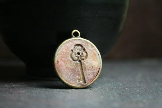 love is the key - skeleton key - simple truths pendant - message pendant