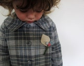 Childs wool coat - vintage inspired