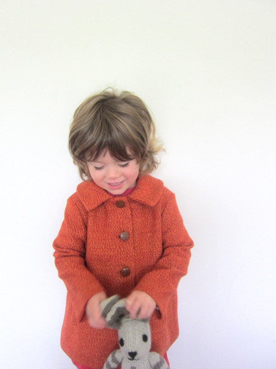 Childs Wool Coat - vintage style