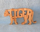 Big Cat Tiger Scroll Saw Wooden Puzzle