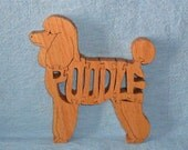 Poodle Dog Breed Scroll Saw Wooden Puzzle