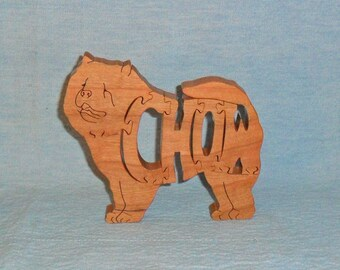 Chow Dog Breed Scroll Saw Wooden Puzzle