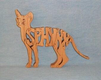 Sphynz Cat Wooden Puzzle