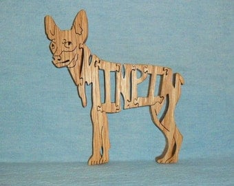 Miniature Pinscher (Min Pin) Dog Breed Scroll Saw Wooden Puzzle