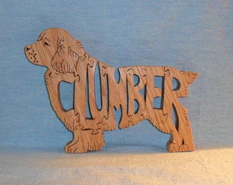 Clumber (Spaniel) Wooden Puzzle
