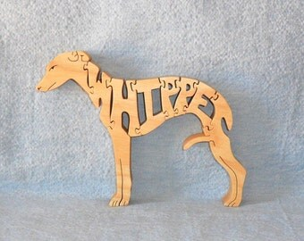 Whippet Dog Breed Wooden Scroll Saw Puzzle