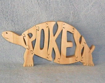 Turtle (Pokey) Scroll Saw Wooden Puzzle