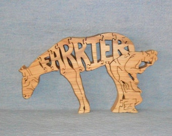 Farrier Horse Scroll Saw Wooden Puzzle