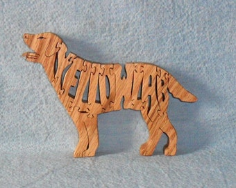Yellow Lab Dog Breed Handmade Wooden Scroll Saw Puzzle