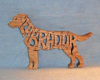 Labrador Dog Handmade Scroll Saw Wooden Puzzle
