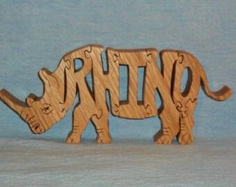 Rhino Wooden Puzzle