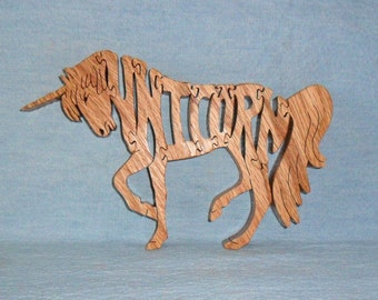 Unicorn Wooden Scroll Saw Puzzle