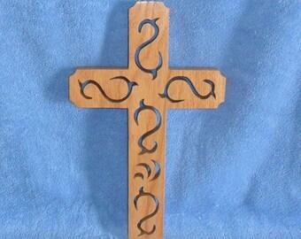 Wooden Wall Cross C14