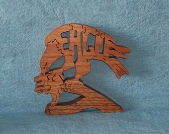 Eagle With Prey Wooden Puzzle