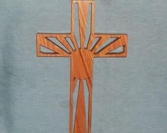 Wooden Wall Cross C38