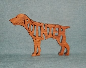 German Short Hair Pointer Dog Wooden Puzzle