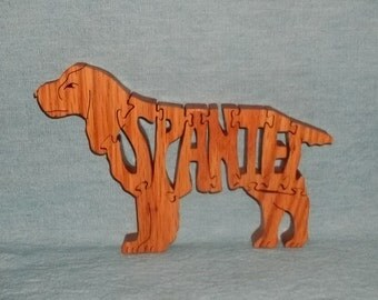 Spaniel Dog Breed Scroll Saw Wooden Puzzle
