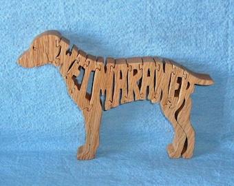 Weimaraner Dog Wooden Puzzle