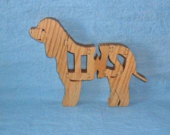 Irish Water Spaniel Dog Wooden Puzzle