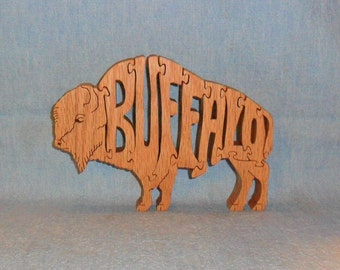 Buffalo Wooden Scroll Saw Puzzle