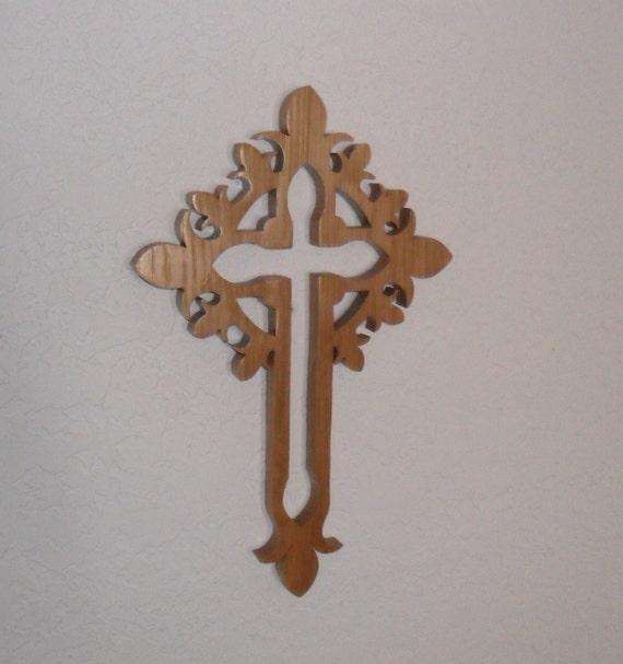 Wooden Wall Cross C26