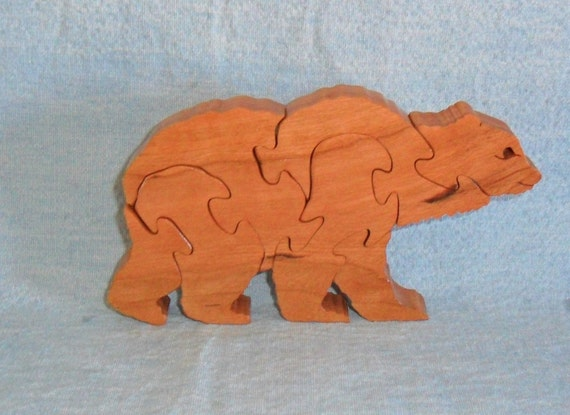 Brown Bear Wooden Puzzle