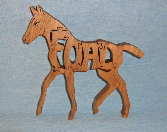 Foal Horse Scroll Saw Wooden Puzzle