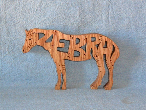 Zebra Scroll Saw Wooden Puzzle