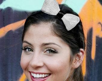 White Bow Headband Inspired by Gossip Girl