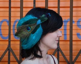 Peacock Bird Barrette Clip