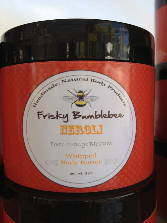 SALE- Body Cream, Whipped Body Butter 8oz.- Neroli- fresh orange blossom scent- FREE Shipping in US