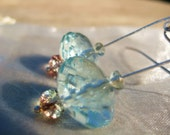 SPECIAL ORDER FOR CATHERINE ...Long drops of pureness... earings