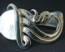 Fork Cuff  Bracelet Made from an Antique Silver Fork