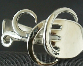 Antique Fork Bracelet Eco Friendly Upcycled Silverware Spoon Jewelry